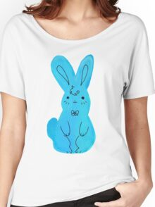 Blue Bunny Watercolor Women's Relaxed Fit T-Shirt