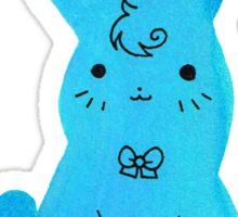 Blue Bunny Watercolor Sticker