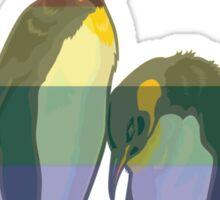 Rainbow LGBT Gay Penguin Couple Sticker