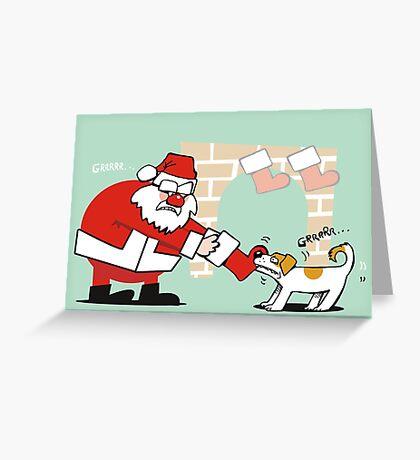 Xmas tug of war Greeting Card
