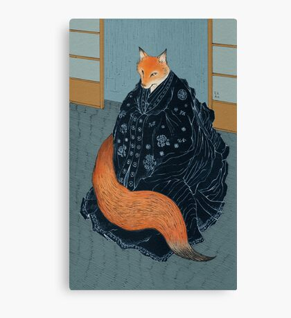 The Fox's Wedding Canvas Print