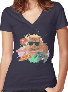 Welcome To The Internet Women's Fitted V-Neck T-Shirt