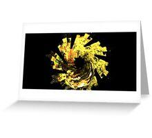Yellow Flower Spiral Greeting Card
