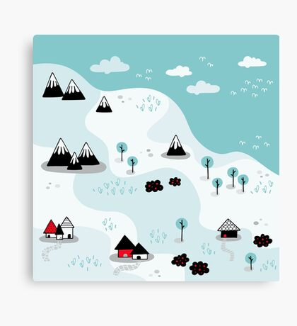 Winter Countryside Canvas Print