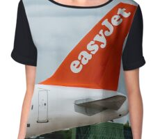 Easyjet Airlines Airbus A320 tail livery Chiffon Top