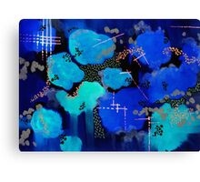 Inverted Abstract Clouds Canvas Print