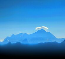 Everest below the clouds by John Dalkin
