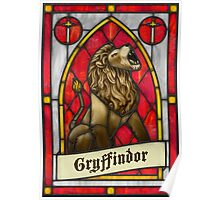 Stained Glass Series - Gryffindor Poster