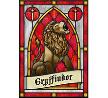 Stained Glass Series - Gryffindor Photographic Print