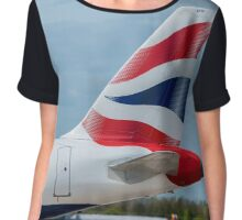 British Airways Airbus A320 tail livery Chiffon Top