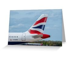 British Airways Airbus A320 tail livery Greeting Card