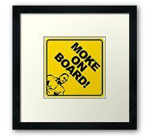 Moke On Board Framed Print