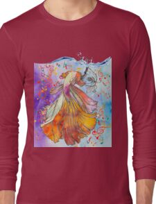 Acuarela de goldfish Long Sleeve T-Shirt