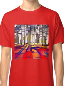 Abstract land scape, contemporary,geometric,art,colorful Classic T-Shirt