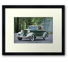 1933 Dodge DP Convertible Coupe Framed Print