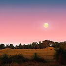 Moonrise At Dusk  by EOS20