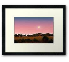 Moonrise At Dusk  Framed Print