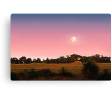 Moonrise At Dusk  Canvas Print