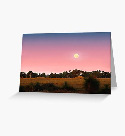 Moonrise At Dusk  Greeting Card