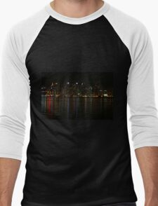 San Diego Skyline Night Men's Baseball ¾ T-Shirt