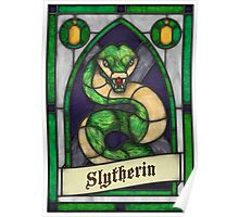 Stained Glass Series - Slytherin Poster