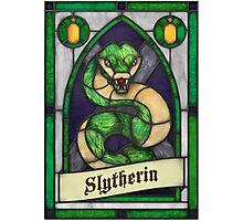 Stained Glass Series - Slytherin Photographic Print