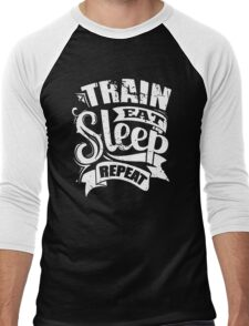 Train Eat Sleep Repeat Men's Baseball ¾ T-Shirt