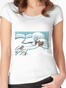 Snow, Bournemouth Gardens Women's Fitted Scoop T-Shirt