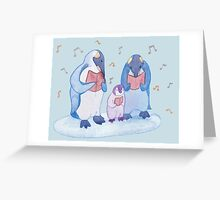 Penguin carols Greeting Card