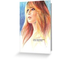 Jennifer Lawrence Greeting Card