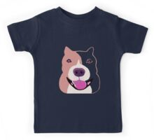 Happy  Bulldog Art for Kids Kids Tee