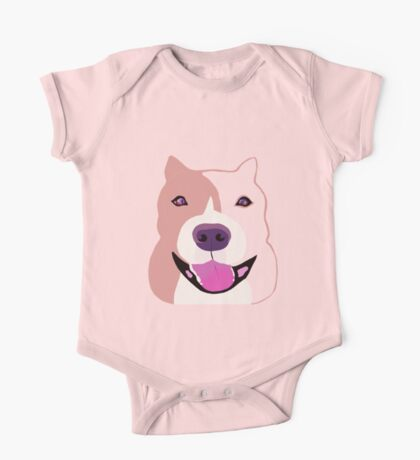 Happy  Bulldog Art for Kids One Piece - Short Sleeve