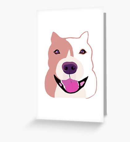 Happy  Bulldog Art for Kids Greeting Card