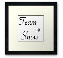 Team Snow Framed Print