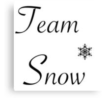 Team Snow Canvas Print