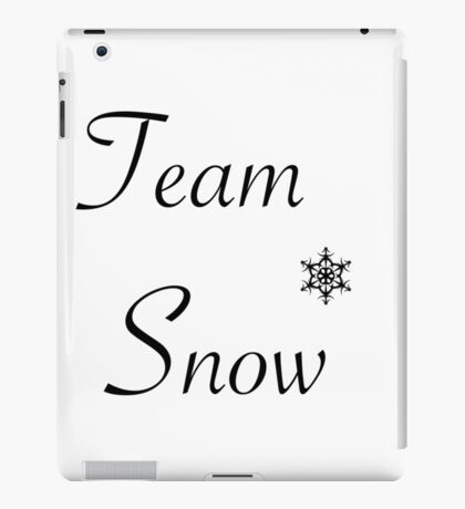 Team Snow iPad Case/Skin