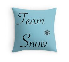 Team Snow Throw Pillow