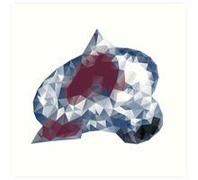 Colorado Avalance Triangles Art Print