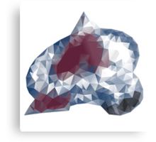 Colorado Avalance Triangles Metal Print