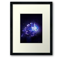 Cosmic Jellyfish - Blue Framed Print