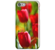 Red Tulip Flowers Floral Art iPhone Case/Skin