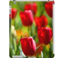 Red Tulip Flowers Floral Art iPad Case/Skin
