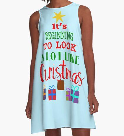 Beginning to Look a Lot Like Christmas A-Line Dress