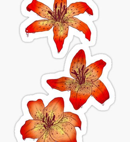 Three Tiger Lillies  Sticker