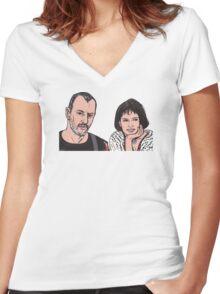 Turddemon Women's Fitted V-Neck T-Shirt