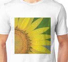 Beautiful Sunflower with Rain Drops Unisex T-Shirt