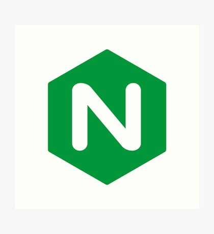 NGINX logo  Art Print