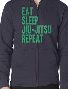 Eat Sleep Jiu-Jitsu Repeat Zipped Hoodie