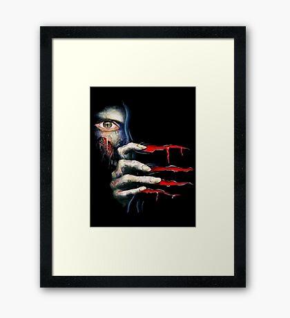 Capcom Resident Evil 2 Classic RARE Design. 100% Redrawn In Adobe Ilustrator Vector Format. Framed Print