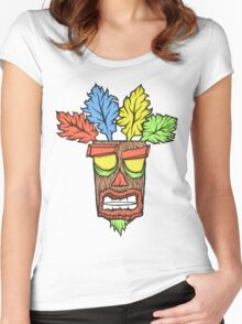 N.Sane Mask Women's Fitted Scoop T-Shirt